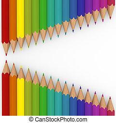 3d pencil colorful