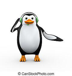 3d penguin headphone customer help support