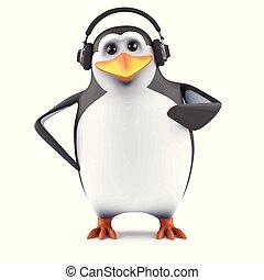3d Penguin headphones