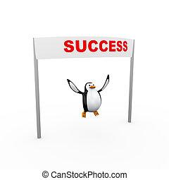 3d penguin success winning