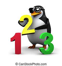 3d Penguin teaches math