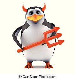 3d Penguin tempts you