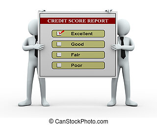 3d people and credit score report