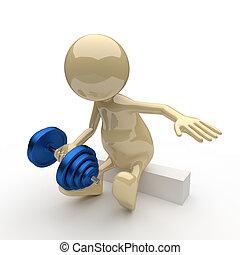 3D People Bodybuilder