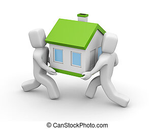 3D People carry house