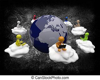 3D People Cloud Computing
