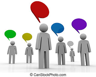 3d people Communication And Speech Bubbles