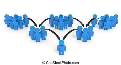 3D people. Communication concept.