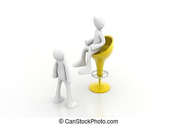3d people communication together
