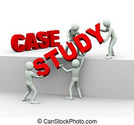 3d people - concept of case study - 3d illustration of men...