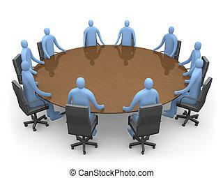 Having A Meeting - 3d People Having A Meeting.