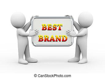 3d people holding board best brand