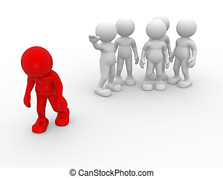 Different - 3d people - human character , person. ...