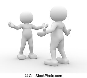 Welcome - 3d people - human character, person inviting. ...