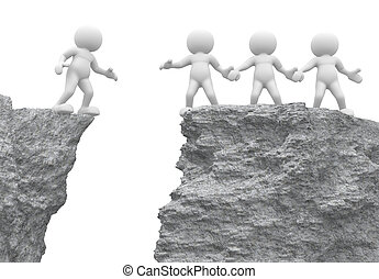 Helping hand - 3d people - human character, person on the...