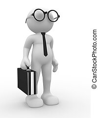 Businessman - 3d people - human character, person with ...
