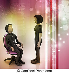 3d people in discussion