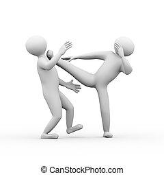 3d people kungfu fighting