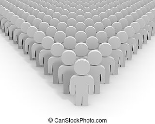 3D people. Leader.