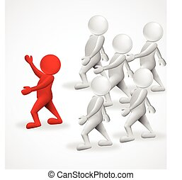 3d people leader business logo - 3d people leader business...
