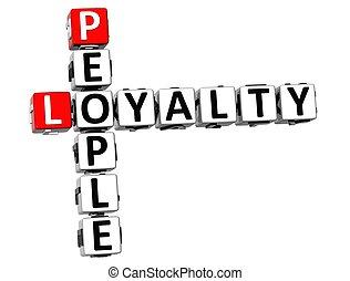 3D People Loyalty Crossword
