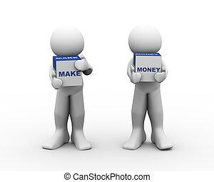 3d people make money