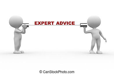 Expert advice - 3d people - men, person talking on a...