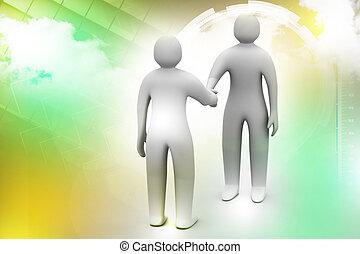 3d people - men, person talking