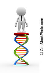 DNA - 3d people - men, person with DNA