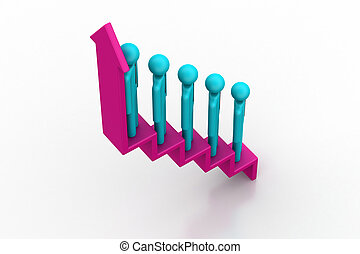 3d people moving to success