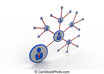 3d people network concept