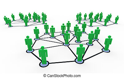 3d people networks