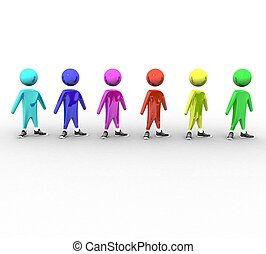 3d people on white background isolated