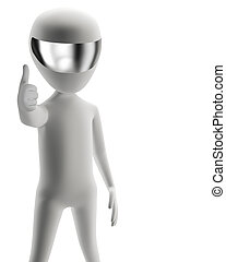 3d people - positive yes! 3d image