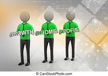 3d people showing the business aims