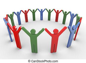 3d people social network