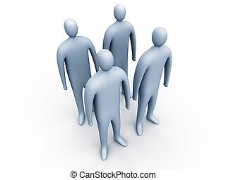 3d people standing#1 - 3d people standing #1.