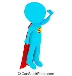 3d people - superman
