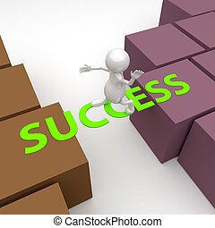 3D People with word Success