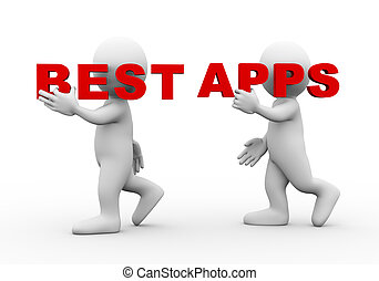 3d people word text best apps
