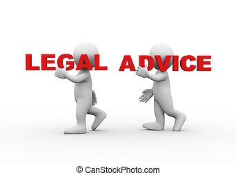 3d people word text legal advice