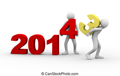 3d people working year 2014