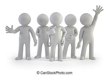3d, pequeño, gente, -, mejor, grupo
