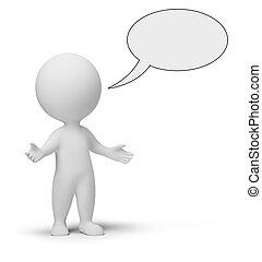 3d, pequeno, pessoas, -, conversa