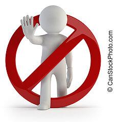 3d, pequeno, pessoas, -, dont, faça, it!
