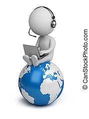 3d, pequeno, pessoas, -, global, gerente