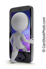 3d, pequeno, pessoas, -, login, para, seu, telefone