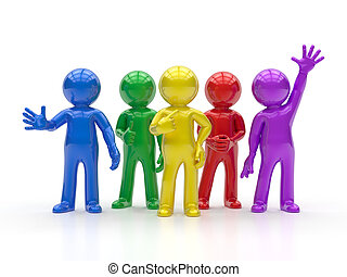 3d, pequeno, pessoas, -, melhor, grupo