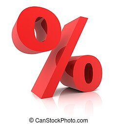 Percentage sign isolated