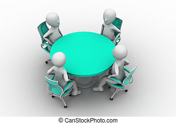 3d person at a conference table